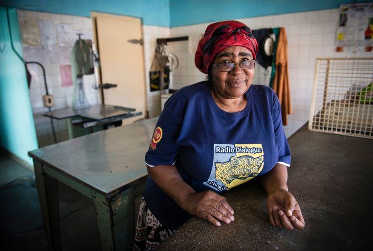 Elizabeth Chimedza heeft geen klandizie meer in haar slagerij. Beeld Bram Lammers