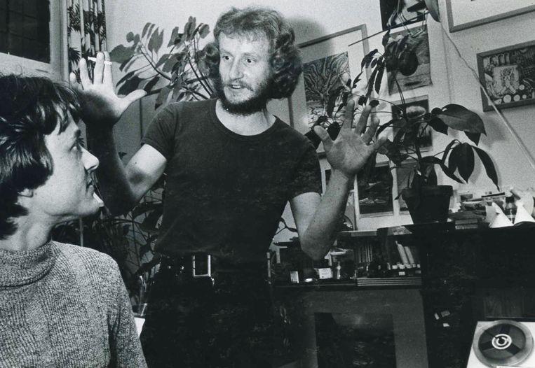 Hans Boon in de jaren zeventig met goede vriend Herman Peerdeman Beeld Dana Ploeger
