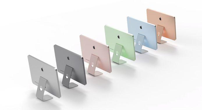 Volgens bronnen zien de nieuwe iMacs van Apple er zo uit.