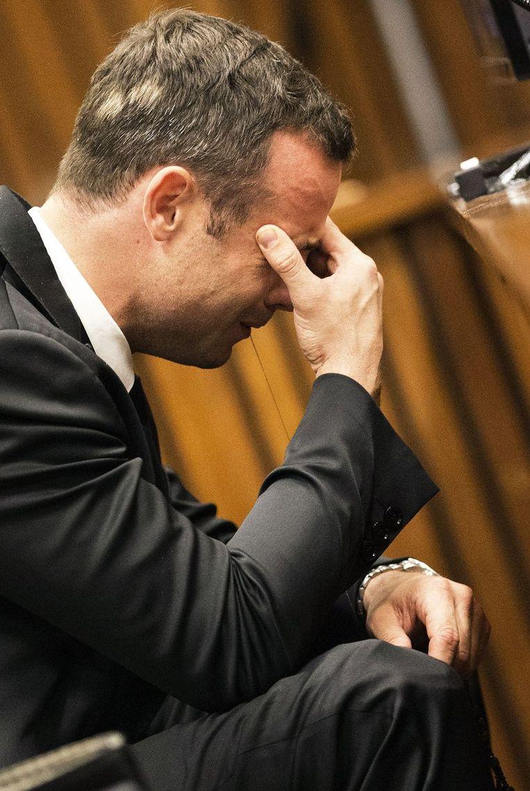 Oscar Pistorius in de rechtzaal Beeld afp