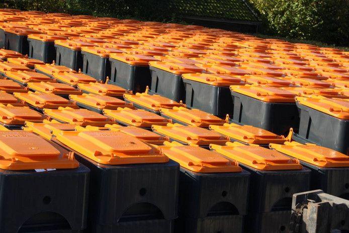 De grijze kliko's in de gemeente Gilze en Rijen krijgen een oranje deksel en zijn vanaf 2018 bestemd voor plastic-, metaal- en drankkartonafval.