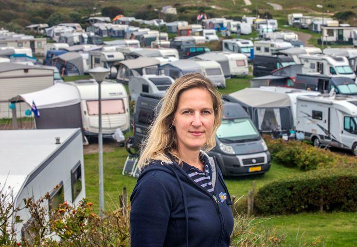"""Eigenaresse Rozemarijn Dees van camping De Zuidduinen haalt opgelucht adem: ,,We hebben gelukkig een fantastische zomer gehad."""""""