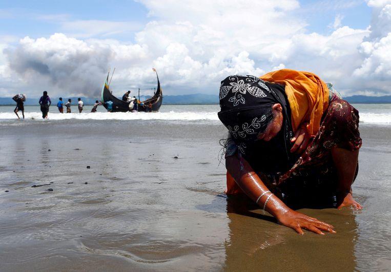 Een van de foto's die Danish Siddiqui maakte van Rohingya-vluchtelingen.    Beeld REUTERS