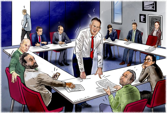 Illustratie gebaseerd op Paul Slier. Hij zegt verbaasd te zijn over verhalen over een angstcultuur op zijn scholen.