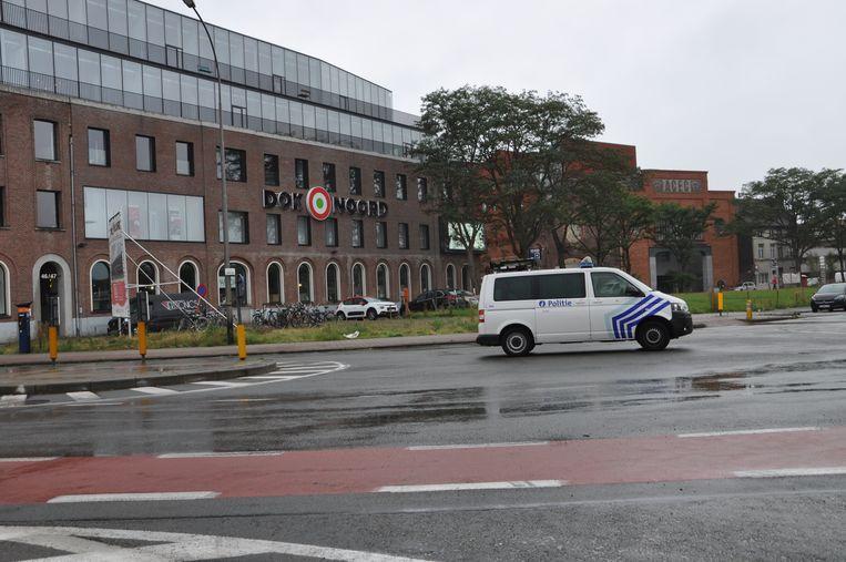 Winkelcentrum Dok-Noord, waar de dief tevergeefs probeerde toe te slaan.
