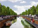 Een artist impression uit 2012 van een herstelde historische haven in Zevenbergen.