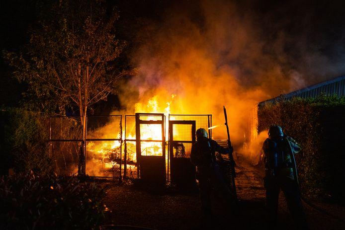 De felle brand in Epe.