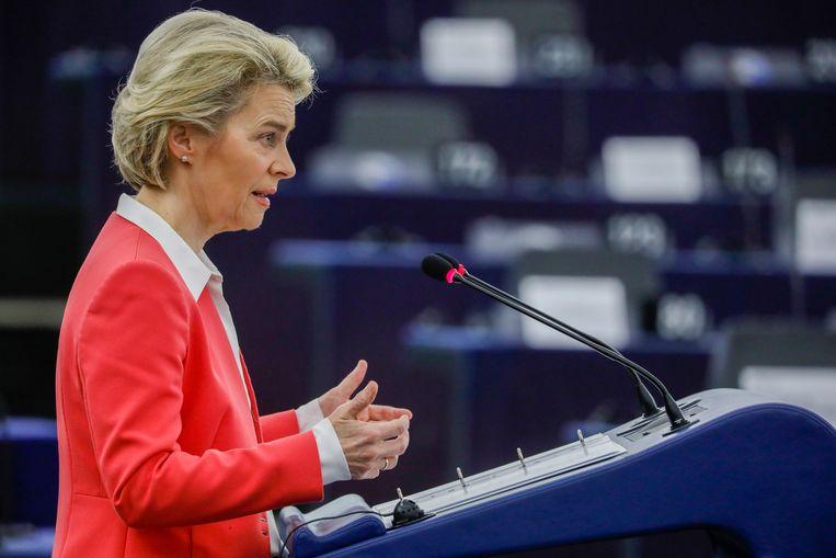 Voorzitter van de Europese Commissie Ursula von der Leyen.  Beeld AP