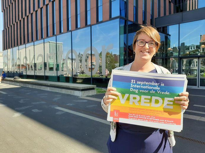 Het Leuvense stadsbestuur roept de Leuvenaars op om de vrede mee uit te dragen op 21 september.