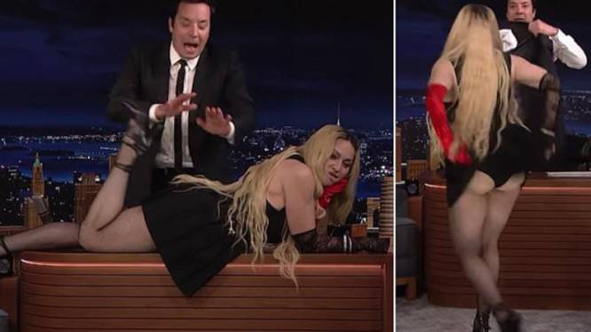Madonna montre ses fesses en direct chez Jimmy Fallon