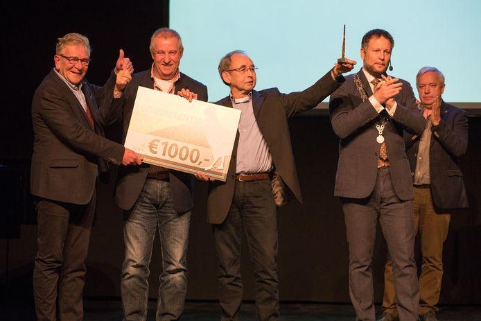 De verkiezing voor het Goudhaentje in 2017 met als winnaar Energie Coöperatie Endona uit Heeten.