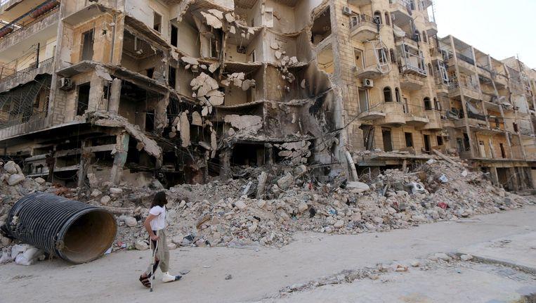 De verwoeste binnenstad van Aleppo. Beeld reuters