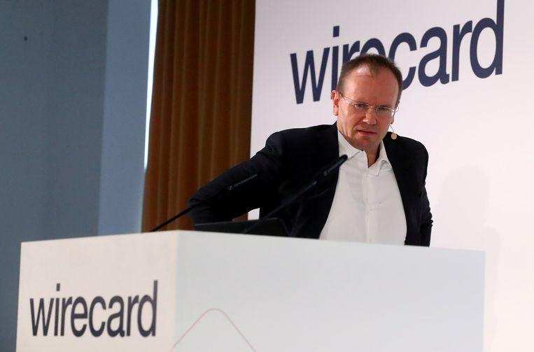 Voormalig ceo Markus Braun van Wirecard op archiefbeeld uit 2019. Hij wordt samen met anderen verdacht van boekhoudfraude bij het bedrijf.  Beeld REUTERS