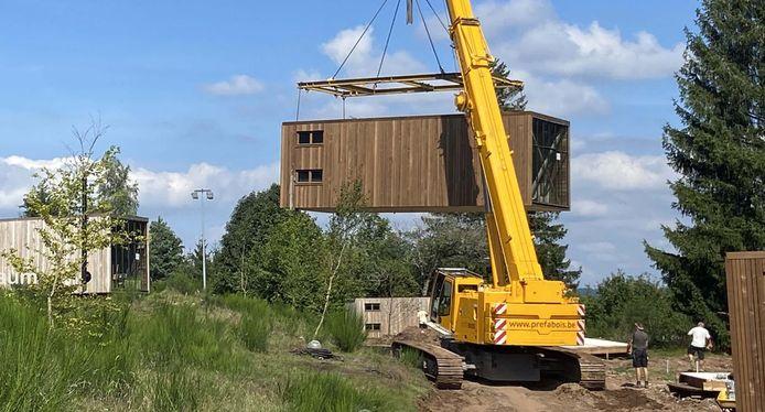 La société Préfabois (Mariembourg) peut fournir des logements préfabriqués en bois aux sinistrés des inondations de juillet 2021. (Photo non contractuelle)