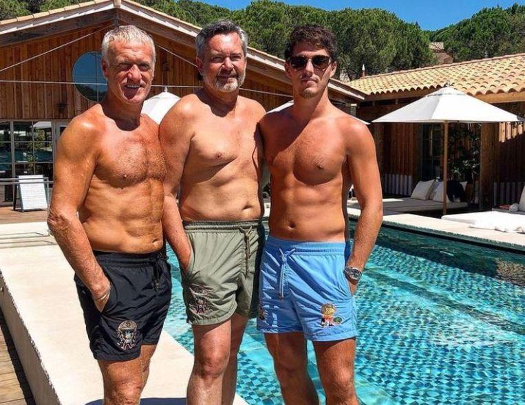 Didier Deschamps (links) en zoon Dylan (rechts) in Saint-Tropez. Beeld Instagram Dylan Deschamps