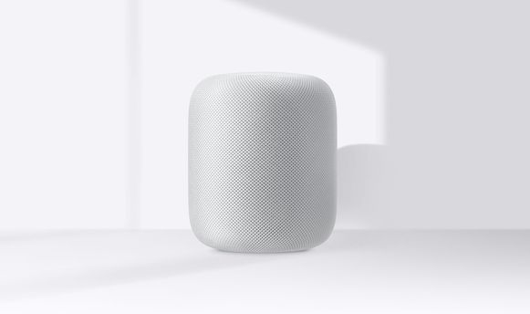 De Apple HomePod (met slimme assistent Siri)