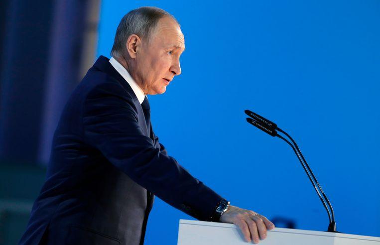 President Poetin is impopulairder dan ooit en en verloor recentelijk tal van zetels op lokaal niveau.  Beeld AP