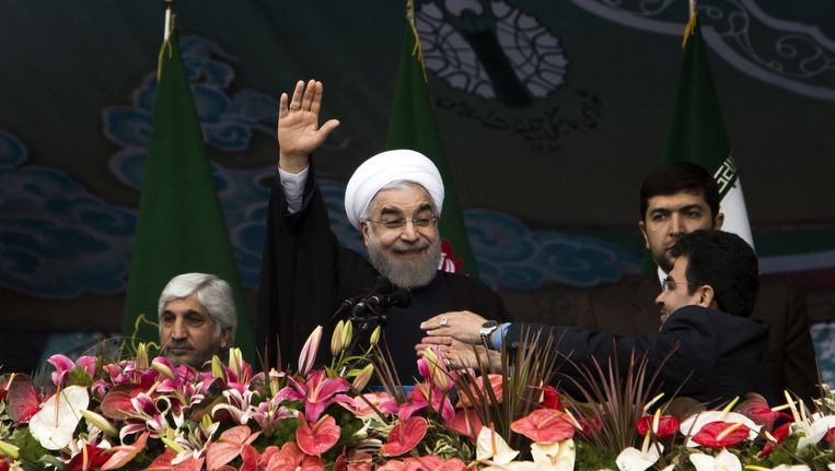 De Iraanse president Hassan Rohani. Beeld AFP
