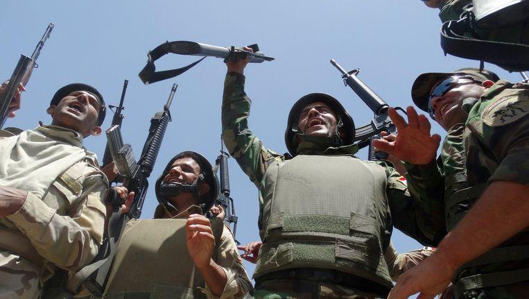 Irakese troepen die vechten tegen Islamitische Staat. Beeld afp