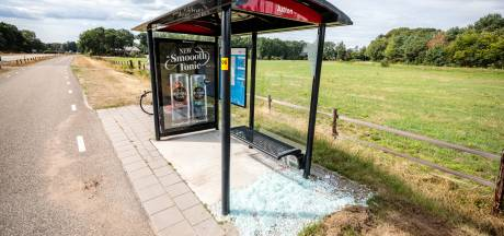 Abri vernield aan Hessenweg Ommen