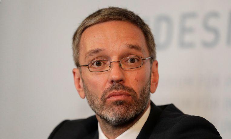 Oostenrijkse minister van Binnenlandse Zaken Herbert Kickl (FPÖ). Beeld REUTERS