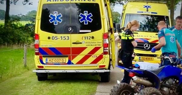 Bestuurder quad gewond bij ongeval in Geesteren: traumahelikopter geannuleerd.