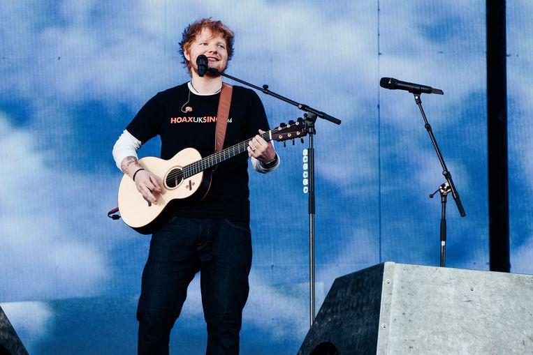 Ed Sheeran in Werchter. Beeld Damon De Backer