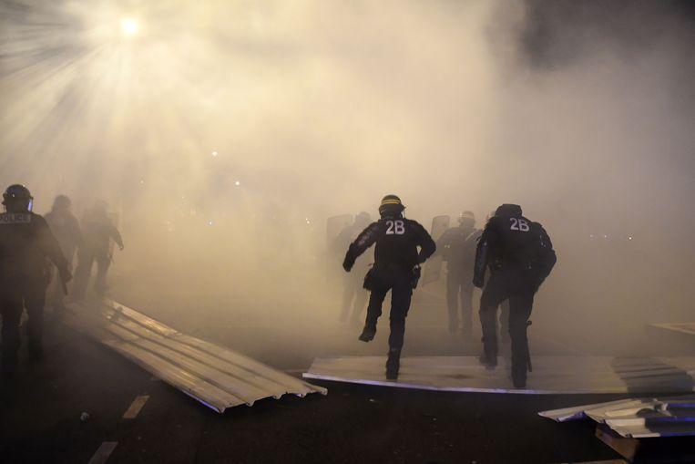 Politie in Bourges Beeld AFP
