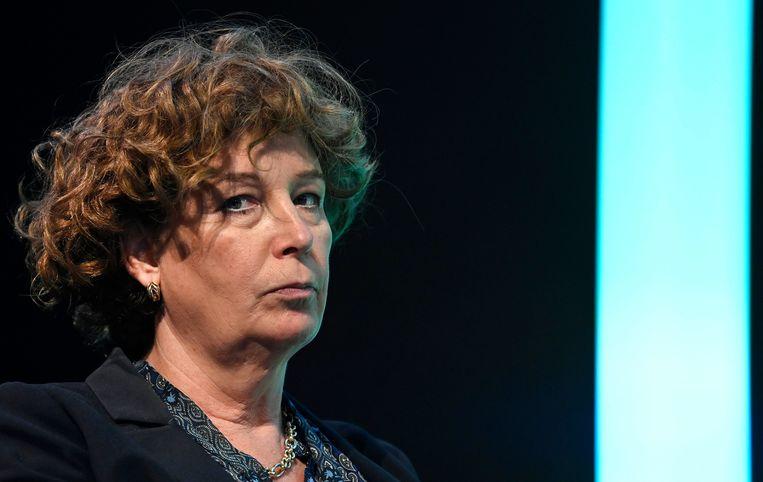 Petra De Sutter: 'De nieuwe Hongaarse wetgeving is discriminerend en zet de deur open voor geweld op alle personen die niet binnen het traditionele, heteroseksuele en gendernormatieve plaatje passen.'  Beeld Photo News