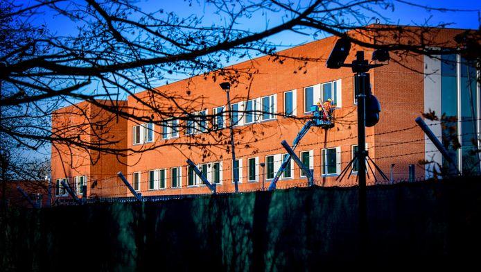 De bouwplaats van de Amerikaanse ambassade in Wassenaar
