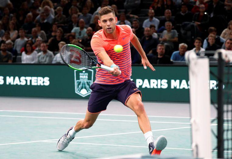 Filip Krajinovic won set 1, maar dan was de pret voorbij.