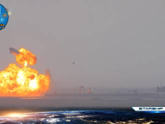 Prototype ruimteraket SpaceX explodeert na landing
