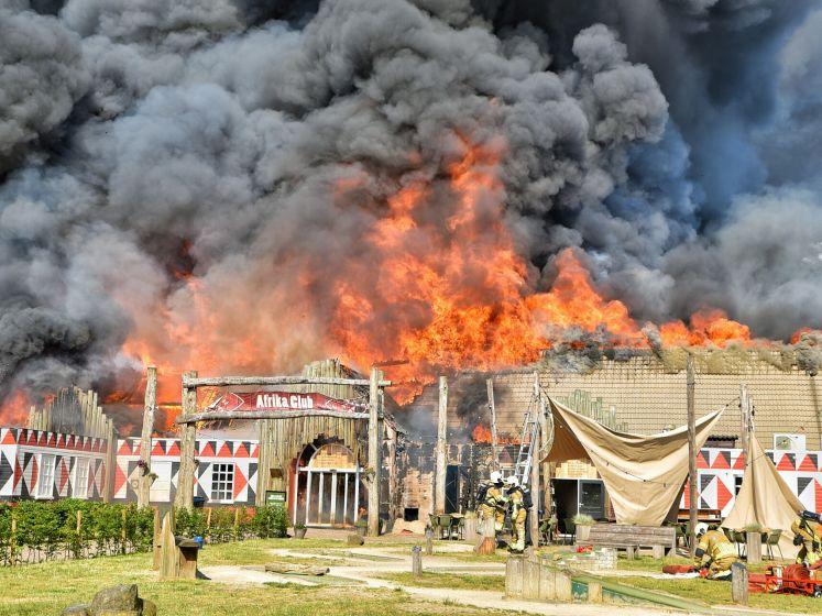 Grote brand in restaurant van Beekse Bergen