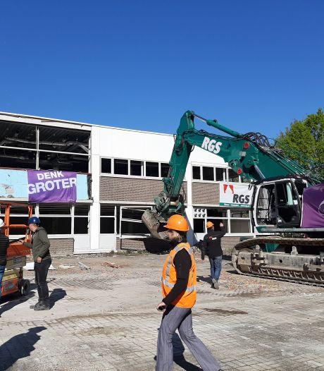 Sloop gebouw R1 op Fontys Campus in Eindhoven officieel begonnen