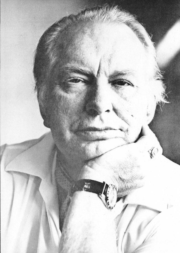 L. Ron Hubbard, de grondlegger van de scientologykerk Beeld afp