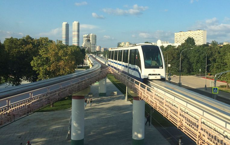 De monorail in Moskou. Beeld Geert Groot Koerkamp
