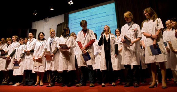 Studenten geneeskunde in Amsterdam. In Utrecht moeten studenten de straat op om in wijken praktijkervaring op te doen.