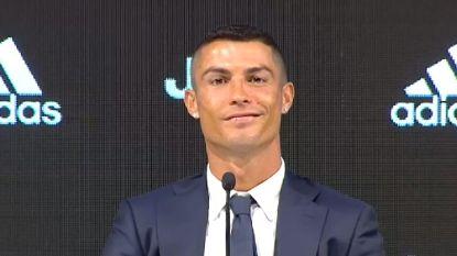 """Cristiano Ronaldo voorgesteld bij Juventus: """"Mijn leeftijd doet er niet toe. Ik wil mijn stempel drukken op de geschiedenis van deze club"""""""