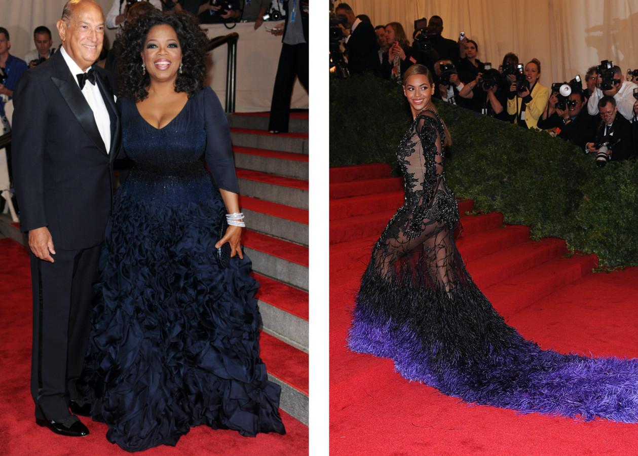 Links: Oprah Winfrey. Rechts: Beyoncé.