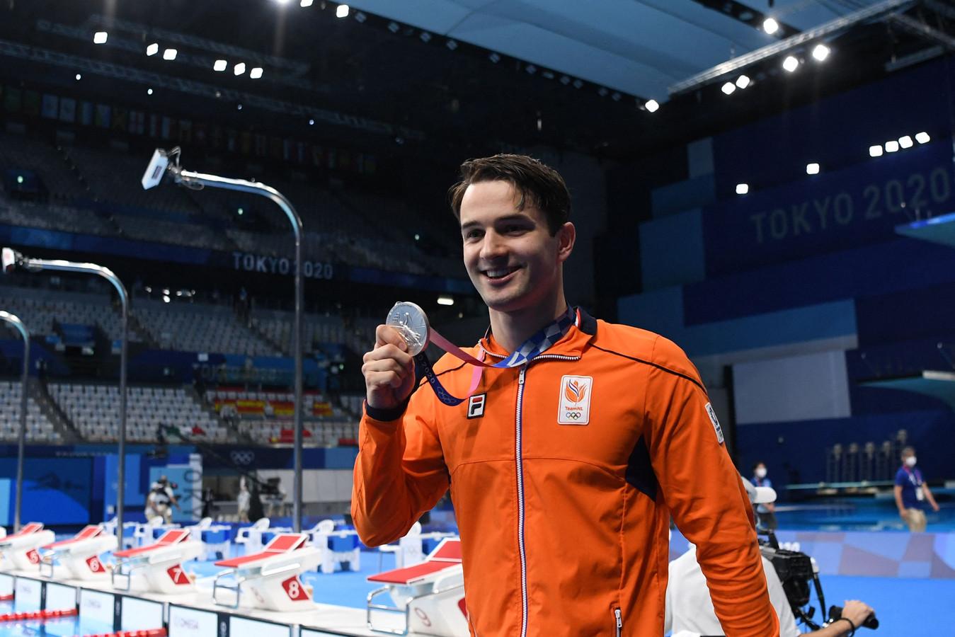 Arno Kamminga pakte zijn tweede zilveren medaille.