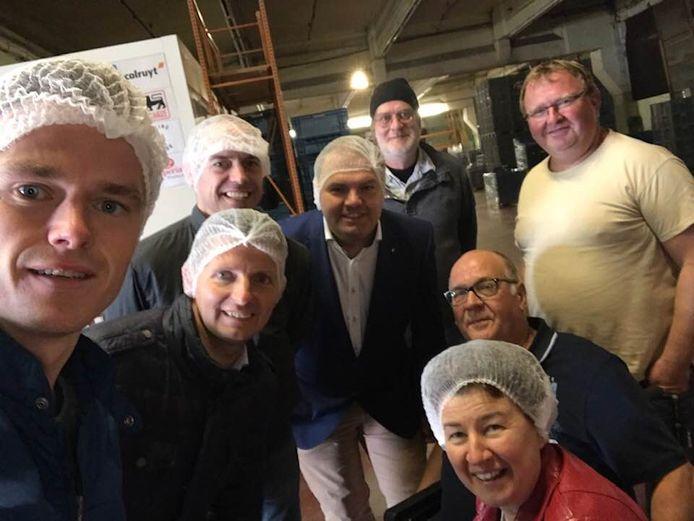 Tijdens het bezoek aan Foodsavers werd een selfie genomen.