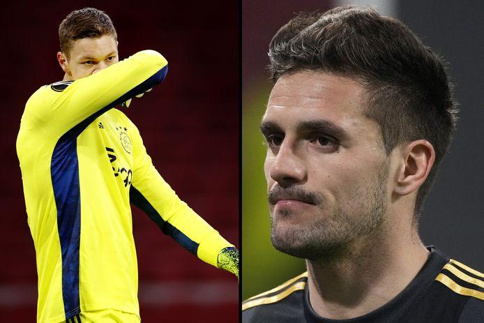 Kjell Scherpen en Dusan Tadic beleefden met Ajax een uitermate vervelende avond in de Europa League.