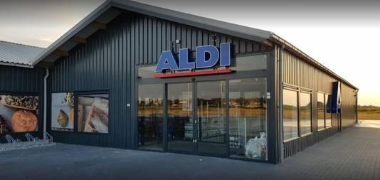 Aldi bouwt wel vaker tijdelijke winkels, zoals in Kamperland in de provincie Zeeland.