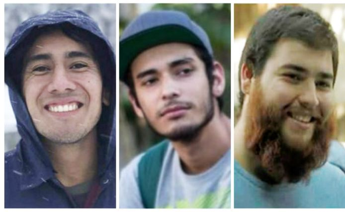 Daniel Diaz, Marco Avalos en Javier Salomón Aceves Gastelum.