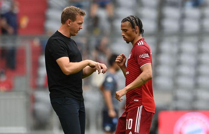 Bayern-coach Julian Nagelsmann en Leroy Sané.