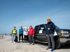 Met de auto van de Bende kan ook grote en zware troep van strand worden gehaald