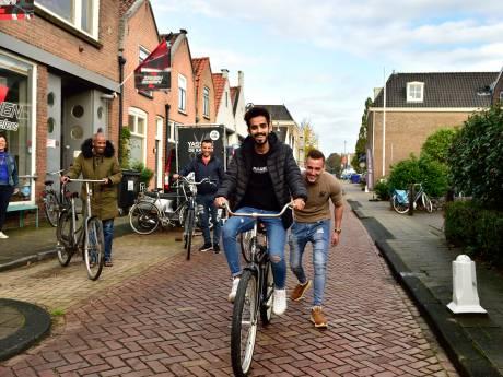 Een oorlog hebben ontvlucht, maar onderuit op de fiets