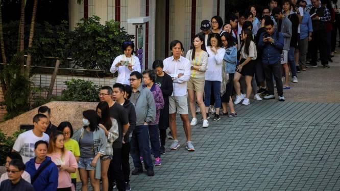 Recordaantal Hongkongers uit angst al vroeg naar de stembus