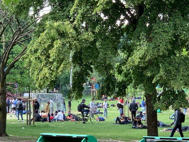 Het Maximiliaanpark, waar de bende slachtoffers zocht