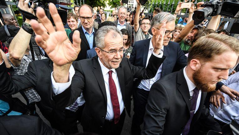 Alexander Van der Bellen is de nieuwe Oostenrijkse president. Beeld EPA
